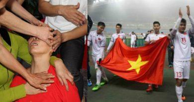 Mẹ trung vệ Tiến Dũng ngất lịm khi U23 Việt Nam làm nên lịch sử