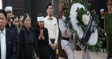 Nghẹn ngào lễ tang chiến sĩ cảnh sát PCCC trong vụ tai nạn trên cao tốc